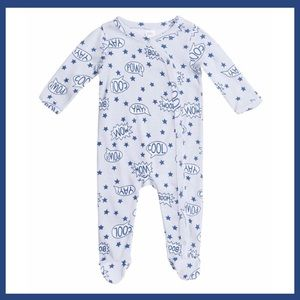 NWT Nordstrom Baby Footie NBS Blue Stars